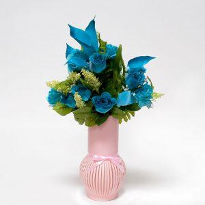 W6621 Pink Paper Flower Vase