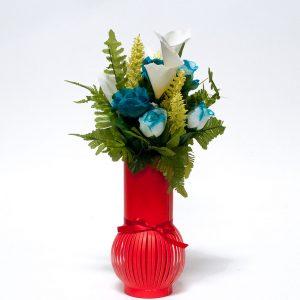 W6622 Red Paper Flower Vase