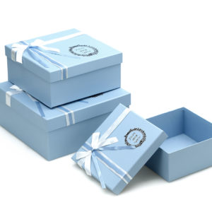 W9201 Baby Blue Square-Shape Flower Boxes (Set of 3)