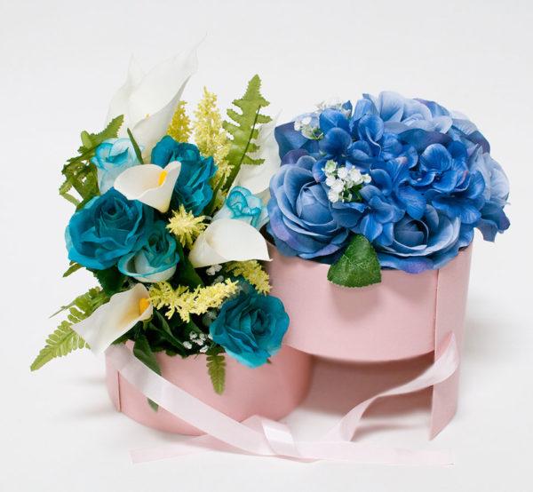 Pink Round Flower Box