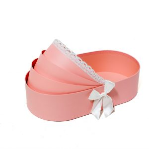 W9297 Pink Baby Bassinet Shape Flower Box