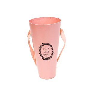 W9209 Pink Cylinder Flower Box