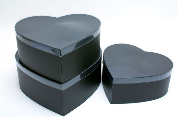 Black Heart Shape Flower boxes