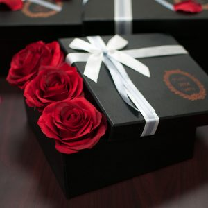 W9203 Black Square-Shape Flower Boxes (Set of 3)