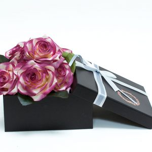 W9203 Black Square-Shape Flower Boxes (Set of 3)
