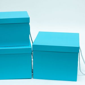 W9458 Light Blue Square Flower Boxes Set of 3