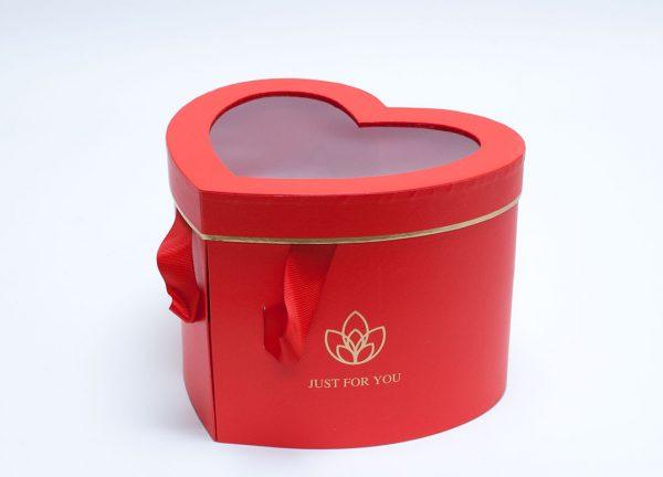 Red Heart Shape Flower Box