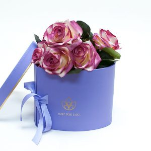 W9850 Purple Heart Shape Flower Box with Window Lid (Two-Layers)