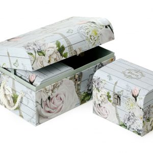 RW025-P22 Set of 3 Flower Chest Gift Boxes