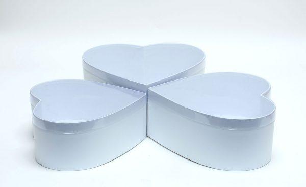 White Heart Shape Flower boxes