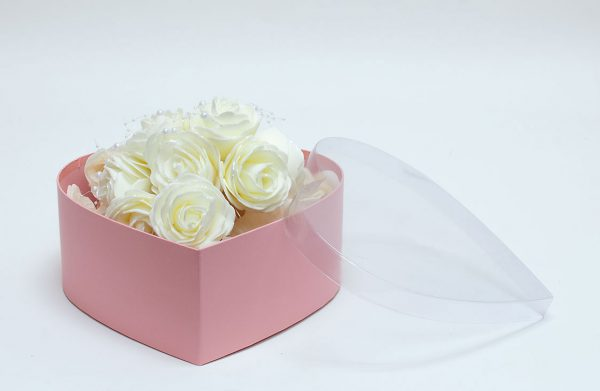 Pink Heart Shape Flower boxes