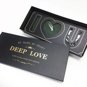 Black Rectangular I Love You Flower Box With Liners and Foams