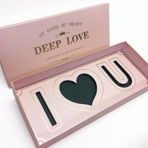 Pink Rectangular I Love You Flower Box With Liners and Foams