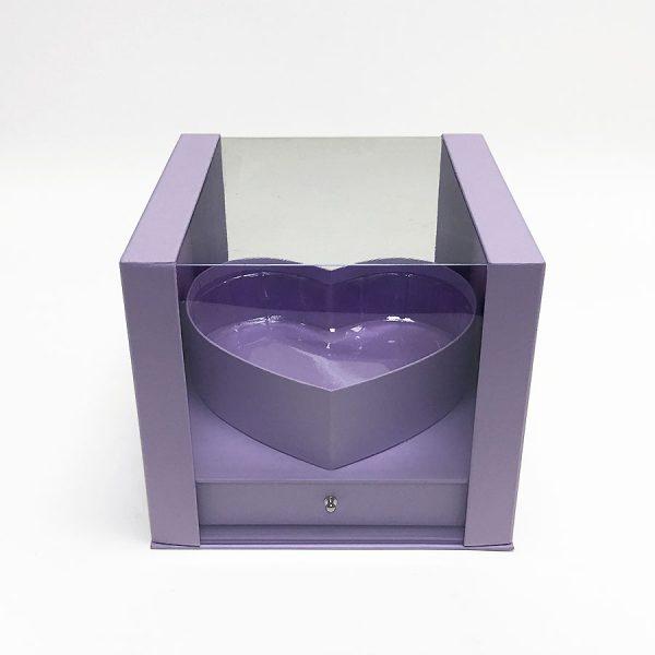 Lavender PVC Square Flower Box