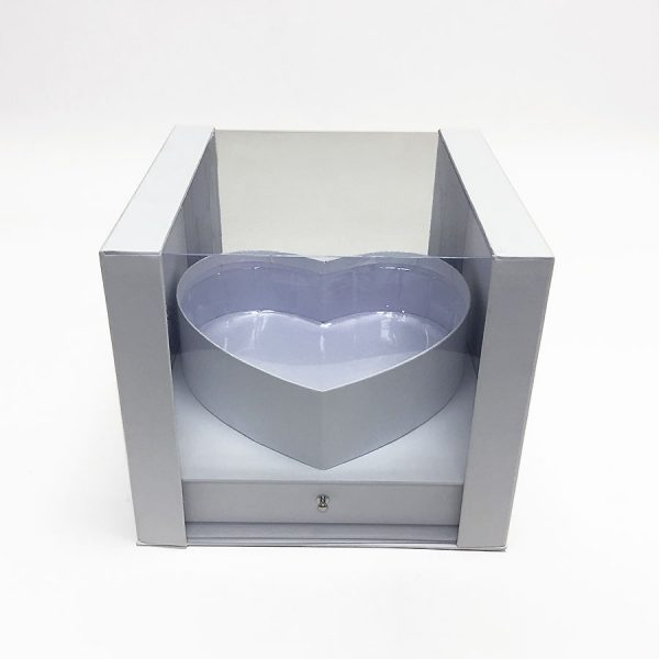 White Square Clear Flower Box