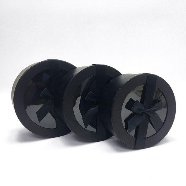 Black Round Flower Boxes