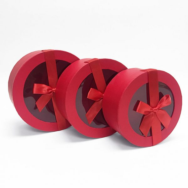Red Round Flower Boxes