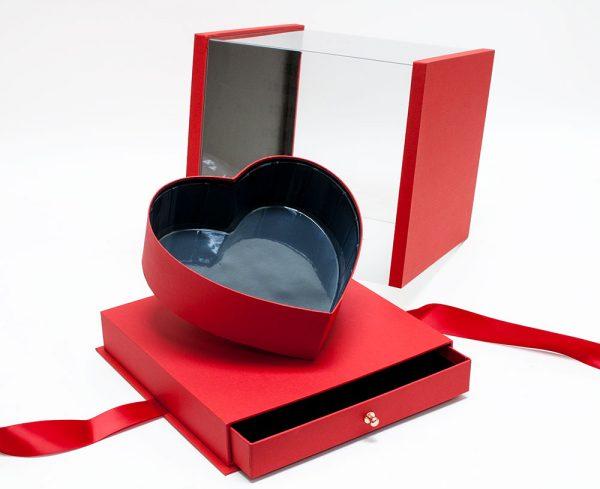 Red Acrylic Flower Box