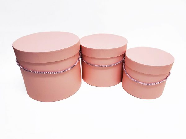 Pink Round Flower Boxes