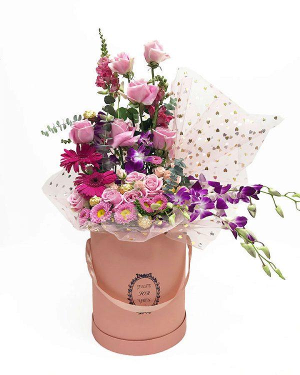 Pinkish Peach Set of 3 Flower Boxes