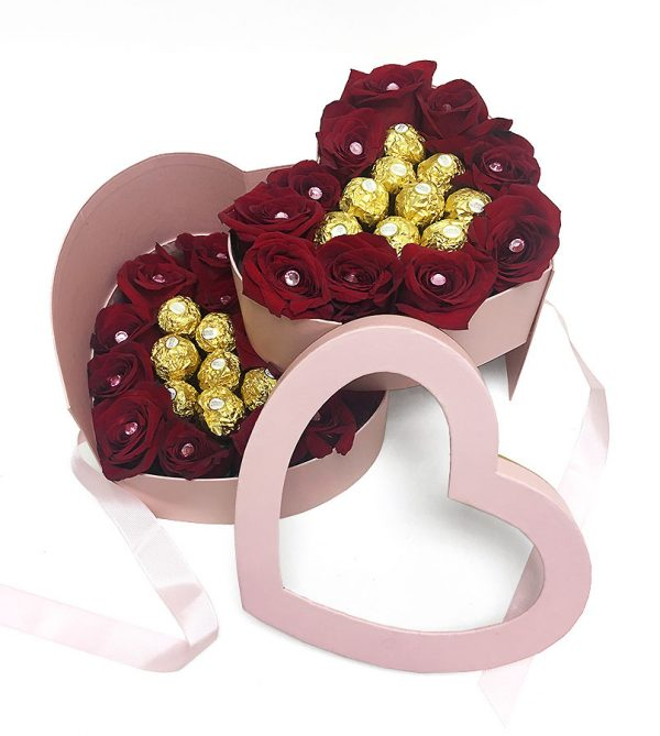 Two Tiers Heart Shape Flower box