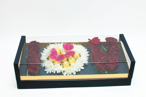 Acrylic I Love You Flower Box