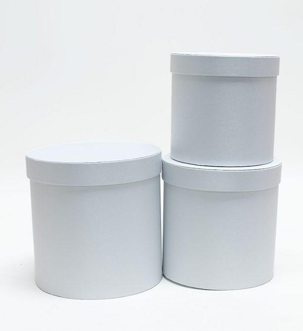 Cloth set of 3 round flower box