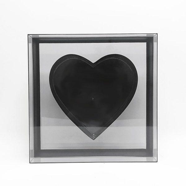Transparent Square Heart Shape Flower box