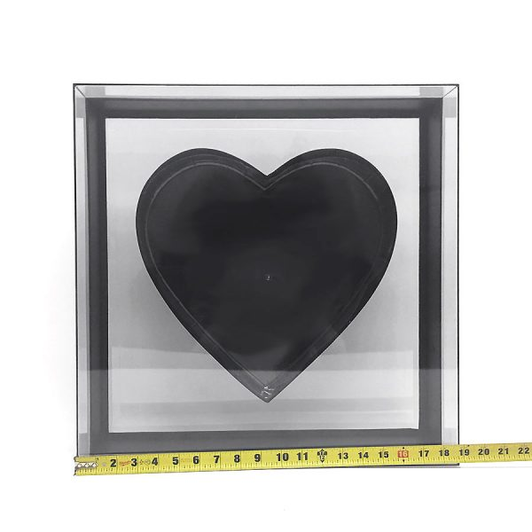 Transparent Square Heart Shape Flower box
