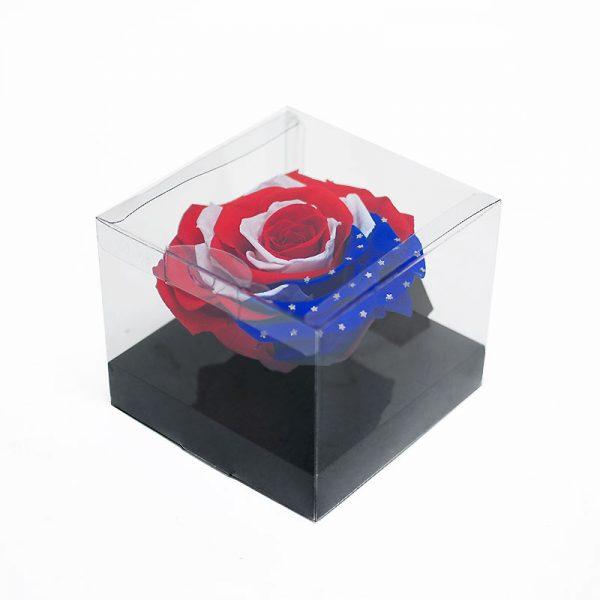 Jumbo American Flag Eternity Rose