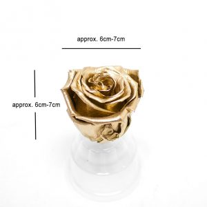Gold Ecuadorian Eternity Flowers Preserved Roses Pack of 6 6cm to 7cm