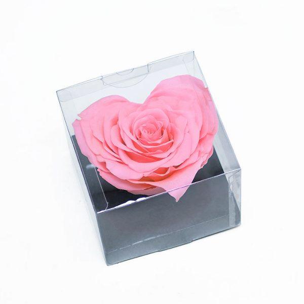 Large Pink Eternity Heart Shape Rose