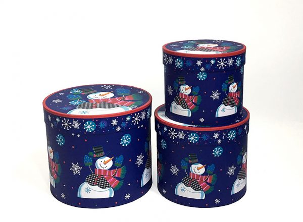 Snowman Christmas Flower Boxes