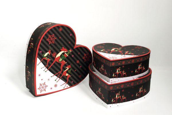 Christmas Reindeer Heart Shape Flower boxes