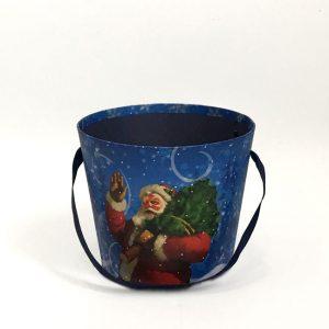 W7949 Blue Christmas Santa Flower box